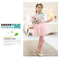 Vente chaude bébé filles robe pantalons / filles de style coréen robe pantalons pantalons