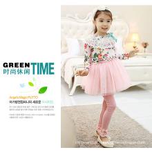 Venda quente do bebê meninas calças de vestido / estilo coreano meninas calças de vestido calças