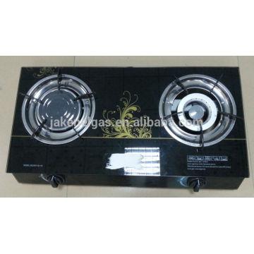 Glasplatte Doppelbrenner Tisch Gasherd, Gaskocher