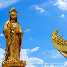 Religiöse Stil antike religiöse Gusstechnik Bronze Guanyin Statue