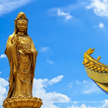 Религиозный стиль античный религиозный метод отливки бронзовой гуаньинь статуя