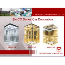 Cabina del elevador con el panel blanco de la iluminación del acrílico (SN-CD-131)