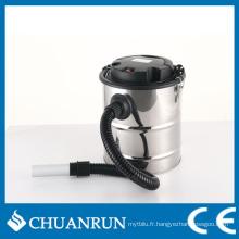 Aspirateur de cendres à barillet en acier inoxydable 20L pour poêles à granulés