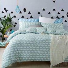 100% pigment printed cotton bedding set bed duvet cover set