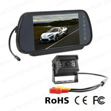 Système de moniteur de miroir voiture 7 pouces avec caméra vidéo mini
