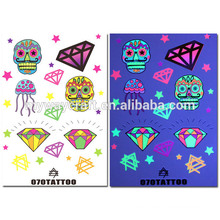 2015 hot sale eco-friendly high quality fashion glitter body tattoo stickers