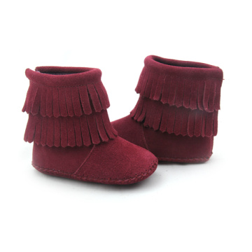 Wholesales Suede Leather Baby Boots Moccasins