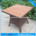 Modern square table garden set for outdoor