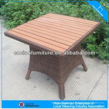 Conjunto de jardim moderno de mesa quadrada para exterior
