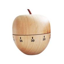 Temporizador mecánico de manzana de madera