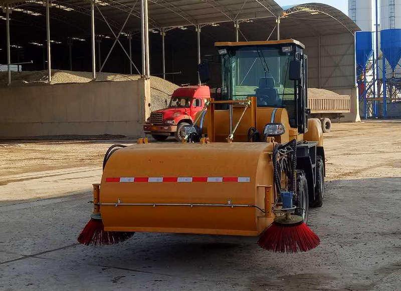 Orange Sweeper Truck