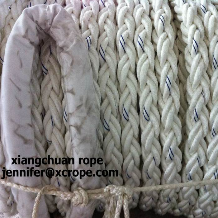 68mm 8 strands polyester rope with 1