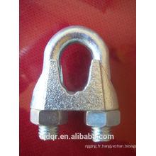 Galvanisé Din741 malléable câble Clip--Qingdao gréement