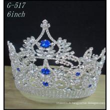 Vente en gros Bijoux en argent de mariage Tiara enfants couronnes de princesse