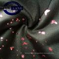 Changshu manufacturer weft knit gold print high strech jersey fabric 87 polyester 13 span