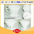 4.5 inch Porcelain ceramic V shape flavored coffee mug ceramic Coffee Filter