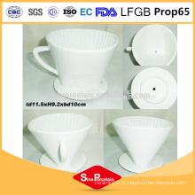 4,5 polegadas de porcelana cerâmica caneca de café filtro de café de cerâmica