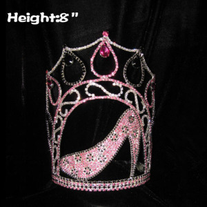 8inch Crystal High Heel Shoe Pageant Crowns