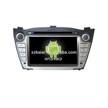 Quad core!car dvd with mirror link/DVR/TPMS/OBD2 for 7inch touch screen quad core 4.4 Android system HYUNDAI IX35