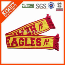 2015 Bufandas de fútbol de punto personalizado de acrílico de moda