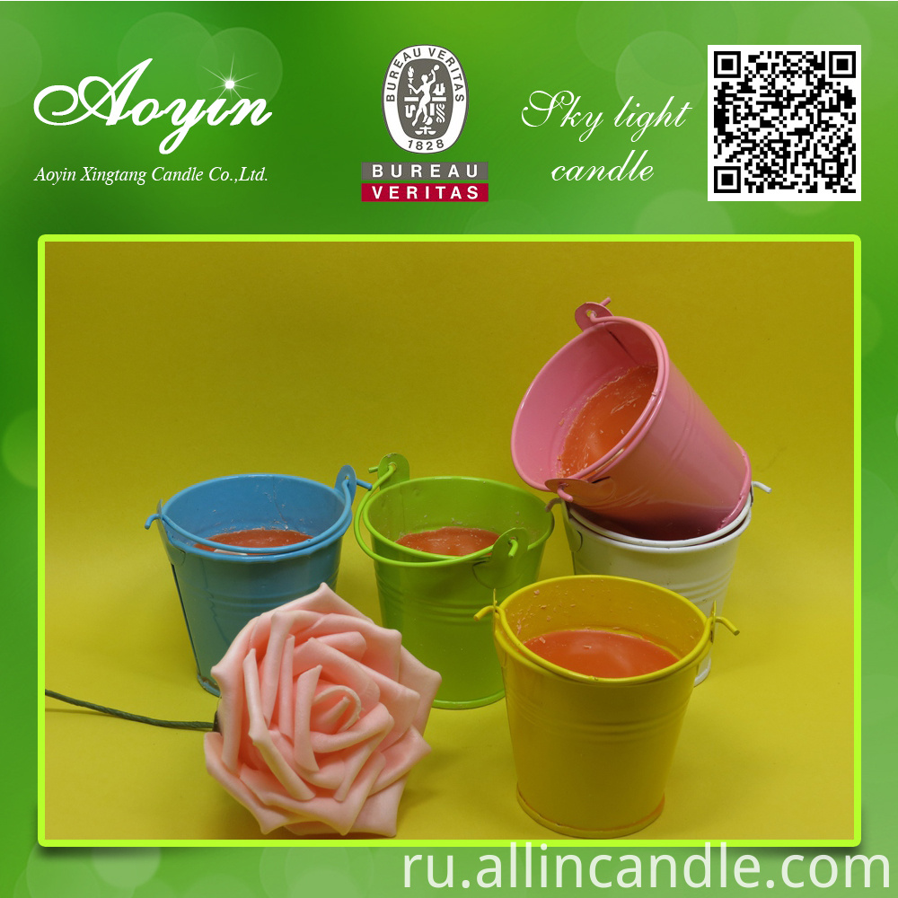 Colorful Citronella Candles