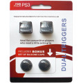 Dual Triggers Bonus Silicone Thumb Grip Caps Cover 4in1 Set For PS3 Controller