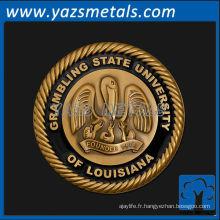 personnaliser les médailles de métal, la médaille d'université d'état de Grambling personnalisée de haute qualité