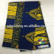 Preço de fábrica direto para a ordem de imitação de cera africano impresso tecido