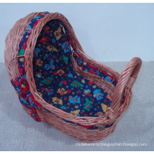 (BC-BA1004) Handmade Willow Sleeping Baby Basket