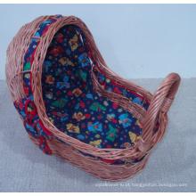 (BC-BA1004) Handmade Willow cesta de dormir do bebê