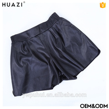 2017 calças de couro sexy sexy em couro preto