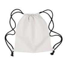 Mochila de lona con logo y cordón de algodón