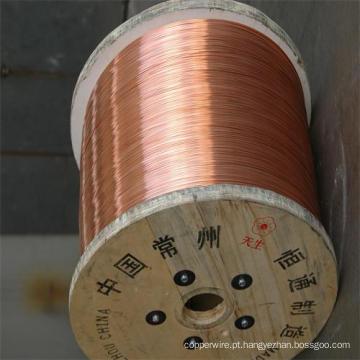 Fio CCS Fio de aço revestido de cobre de 21% Iacs-45% Iacs
