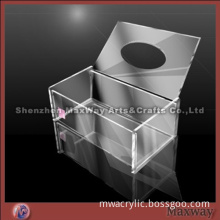 3-5mm Thickness Acrylic/Plexiglass Facial Tissue Holder/Box with Removable Top