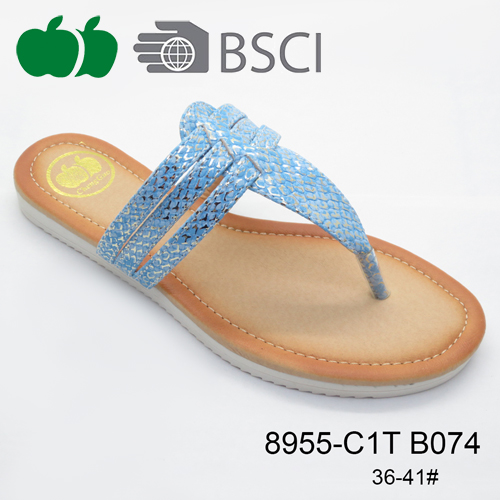 New Fashion Most Popular Pu Women Slippers