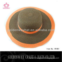2013 Summer Ladies Plain Church Hat Brown