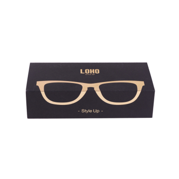 Eyewear Paket Logo Design Black Packaging Box