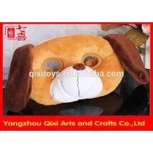 Wholesale party animal shape plush dog mask for children
