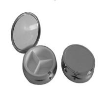 Большой круглый металлический ящик для таблеток (BOX-02)