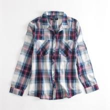Camisas casuales de manga larga a cuadros de primavera y otoño para hombre