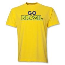 2014 Go Brazil T-shirt O-neck Short Sleeve