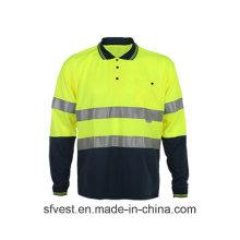 Neue Mode Sicherheit Reflektierende Traffic Polo Shirt mit langen Ärmeln