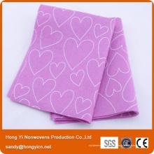 Tissu de nettoyage non-tissé superbe de tissu d'absorption de l'eau de Hong Yi, chiffon de nettoyage de cuisine