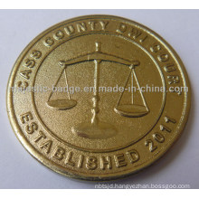 3D Customized Gold Plating Coin