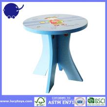 cartoon kids furniture wooden stool