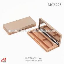 MC5275 2 Farbe dünne kleine Lidschatten Palette Box, leere Make-up-Container, leere Paletten