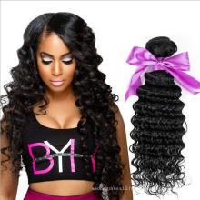 HE004 7A Forme Brésilienne 4 Packs Avec Fermeture Forme Soft Weave Bundles Avec Fermeture Visière Cheveux brésiliens