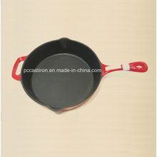 Enamel Cast Iron Frying Pan with Handle Dia