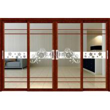 Aluminum Sliding Door Profile/Wood Grain Transfer Pringting Aluminum