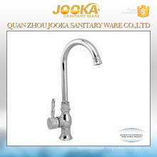 European style beige single handle movable kitchen tap faucet